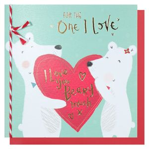 One I love bears Valentine's Day card