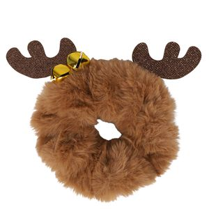 Antler Christmas scrunchie with bells