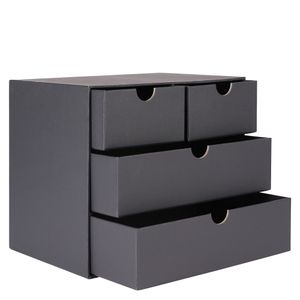 Black kraft 4 drawer unit