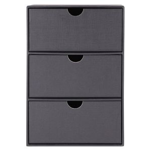 Black kraft set of 3 drawers