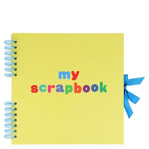 Medium scrapbook in neon yellow