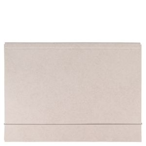 Grey A4 elasticated flap folder