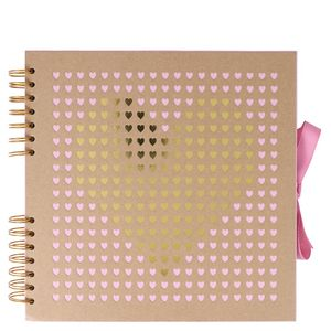 Kraft laser cut heart medium scrapbook
