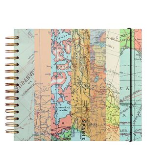 Map print scrapbook