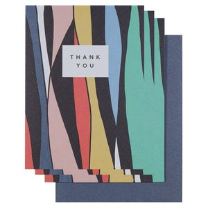 Abstract stripe thank you cards - pack of 10
