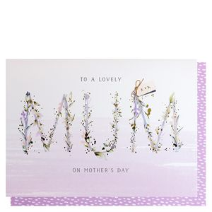 Mum floral letters Mother's day card