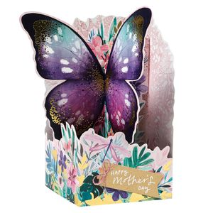 Pop out butterfly Mother's day card