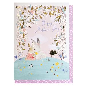 Laser cut bunnies Mother's Day card