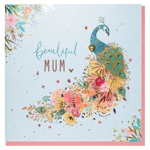 Beautiful peacock Mother's Day card