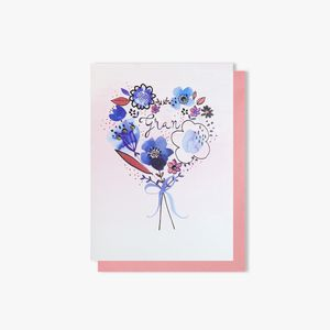 Floral heart for Gran Mother's Day card