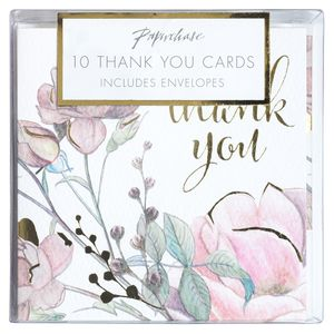 Floral blossom thank you cards