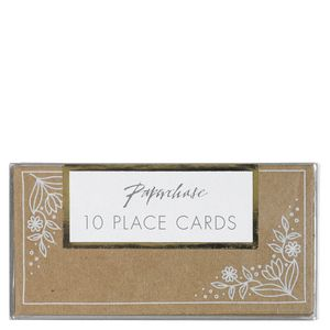 Kraft floral place cards - pack of 10