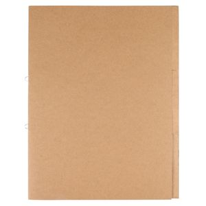 Kraft A4 document wallet with dividers