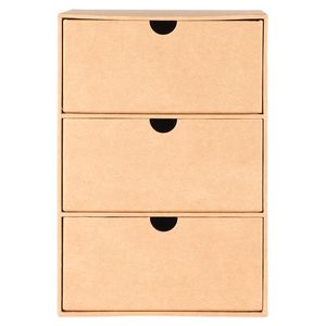 Kraft set of 3 desk drawers