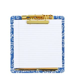 Hana navy leaf clipboard pad