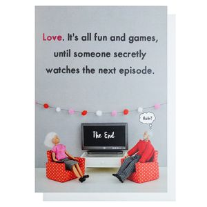 All fun and games Valentine's Day card