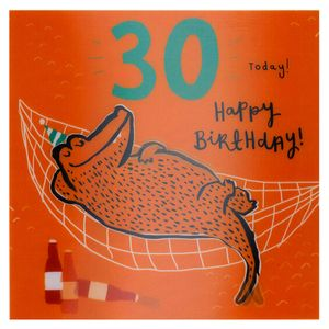 Lenticular croc 30th birthday card