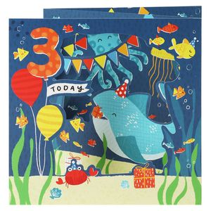 Pull out under the sea 3rd birthday card