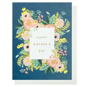 Navy flowers Mother's day card