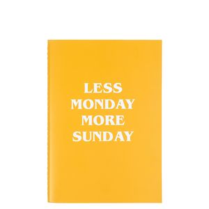 A5 less Monday notebook