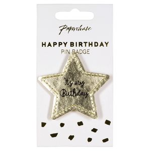 It's my birthday gold star badge