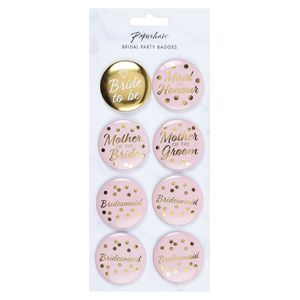 Hen party bridal party pin badges