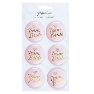 Hen party team bride pin badges