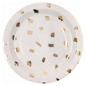 Ginger Ray for Paperchase gold brush paper plates