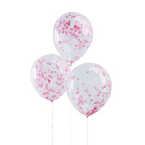 Ginger Ray for Paperchase pink confetti-filled balloons