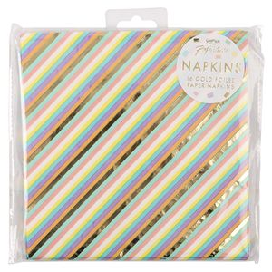 Ginger Ray for Paperchase pastel gold foil napkins