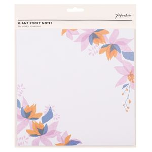 Pastel floral giant sticky notes