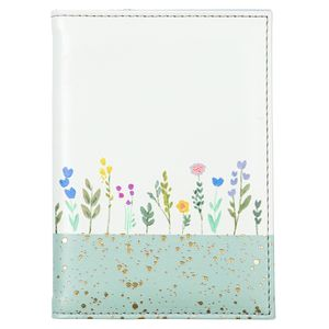 Gold speckled floral passport holder