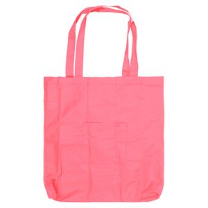 Pink foldaway reusable bag
