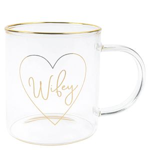 Wifey glass mug