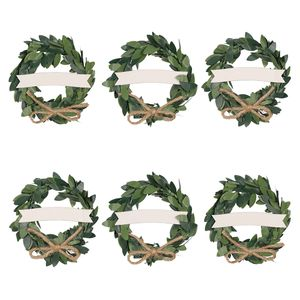 Wreath placecards - set of 6