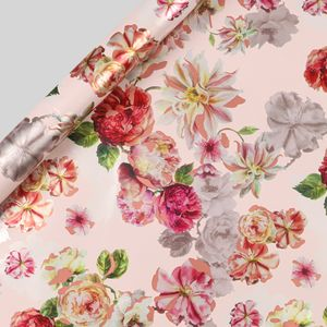 Peony floral wrapping paper - 3m