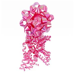 Pink gift bow and tassel