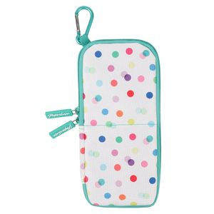 Polka dot standing pencil case