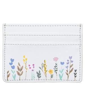 Recycled leather floral cardholder