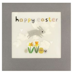 Hopping bunny confetti Easter card