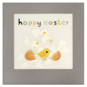 Chick confetti-filled Easter card