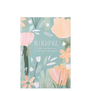 Green floral mindful journal