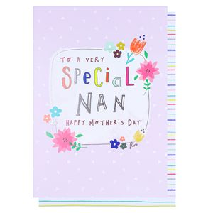 Very special nan Mother's day card