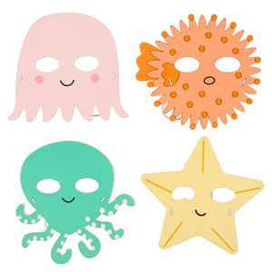 Under the sea foam masks - pack of 4