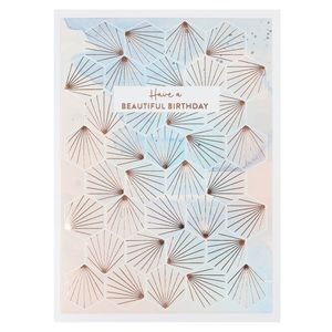 Geo shapes beautiful birthday card