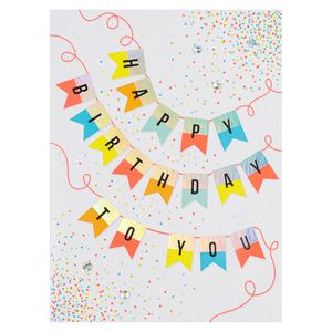 Happy birthday to you banner card