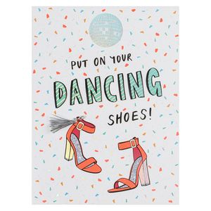 Put on your dancing shoes birthday card