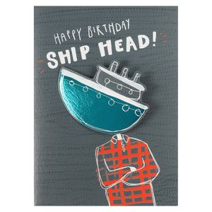 Happy birthday ship head card