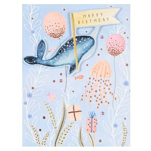 Narwhal happy birthday card