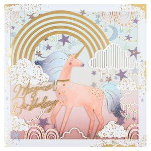 Unicorn laser cut birthday card